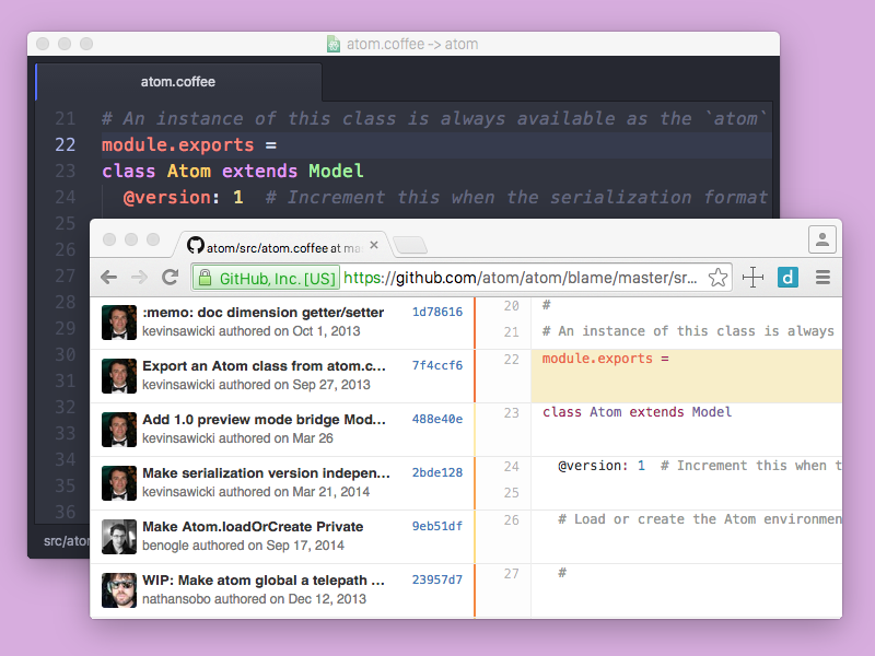 Version Control in Atom